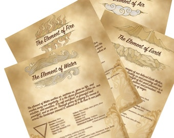 Book of Shadows Pages Four Elements