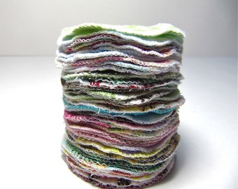 Reusable Facial Rounds, 40 Cosmetic Rounds, Makeup Remover Pads, Eco-Friendly Face Scrubbies