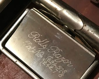 Vintage Chrome Roller Razor