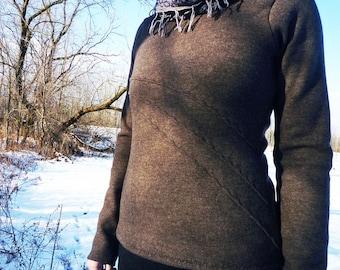 Organic Clothing Merino Wool Moonbeam Sweater Womens Clothing Mountain Winter Outdoor Clothing Embroidery Merino Sweater Handmade Clothing
