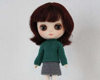 Middie Blythe doll Pilar Sweater knitting PATTERN - long and short sleeve sweater - instant download - permission to sell finished items