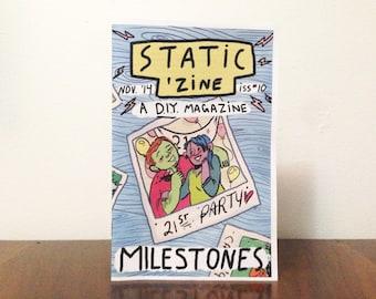 Static Zine #10: Milestones (Colour Cover)