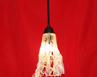 Fused Glass WIld and Tangled Light Pendant Fixture