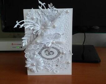 Wedding card with box/Handmade