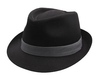 Classic Trilby - Black-grey Hat - Handmade