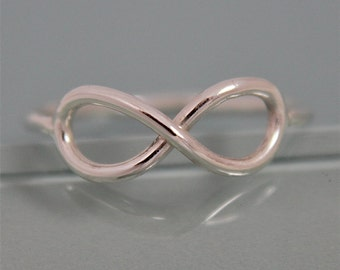 Infinity Ring Statement Ring Eco Friendly Recycled Sterling Silver