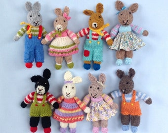 Rabbit Rascals doll knitting pattern - INSTANT DOWNLOAD