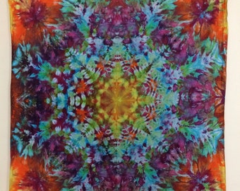 Kaleidoscope Tie Dye Tapestry 4x4'
