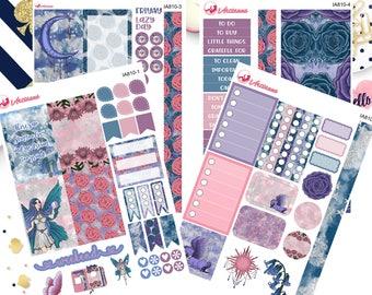 Planner Stickers - Sparkle Fairy Weekly Planner Sticker Kit - Fantasy Fairy Sticker Kit - Fantasy Stickers - Fairy Stickers - Happy Planner