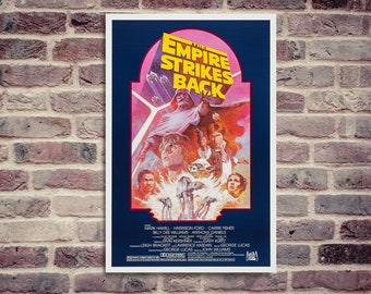 Star wars poster. The Empire strikes back. Movie poster. Empire strikes back.
