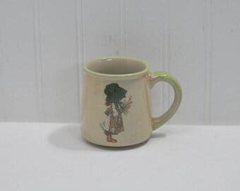 Vintage Holly Hobbie Coffee Mug (c. 1978) WWA Incorporated, Cleveland, Ohio, Made In Korea, Ceramic Stoneware Mug, Collectible Holly Hobbie