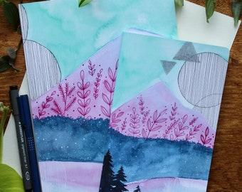 Blank Notebook, Journal or Sketchbook - Wind Image