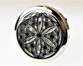 Flower of Life Aromatherapy Car Air Freshener Essential Oil Car Vent Diffuser With Vent Clip