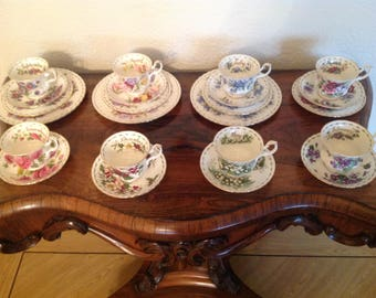 Royal Albert part set of flowers of the month