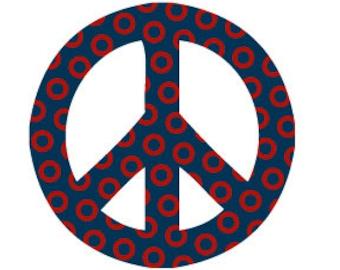 Peace Sign Donut Print Sticker