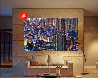 Hong Kong canvas wall art  Hong Kong canvas wall art art Hong Kong wall decoration Hong Kong large canvas wall art