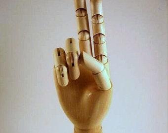 PAAR Holz Mannequin Display Hände 10 Zoll SET - Männchen neu
