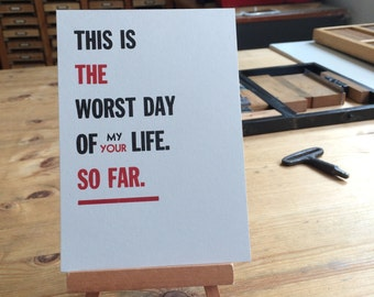 Letterpress typeset quote simpsons - Homer to bart on life