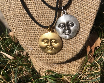 Sun and moon friendship/couple necklaces.