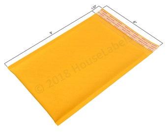 "250 Bags #0 6x10 KRAFT Bubble Padded Envelope Interior 6"" x 9"""