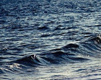 Ocean print, nautical decor, beach picture, ocean art, coastal decor beach, ocean decor, ocean waves photography, navy blue art, coastal art