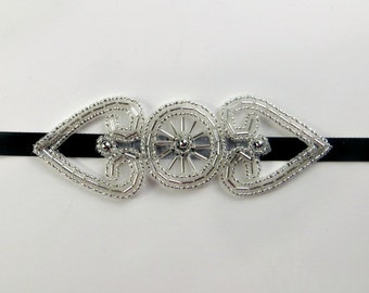 Great Gatsby Headpiece, 1920s Bridal Accessory, Great Gatsby Headband, 1920s Headband, Roaring 20's Hen Party, Daisy Buchanan Hairpiece,