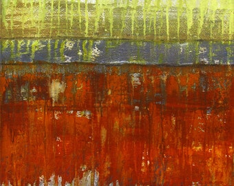 Earth Tone Abstract Painting ...18x24 ... Dripping Paint ... Ready to Hang ... Original Canvas Art