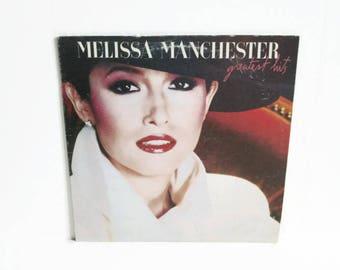 Melissa Manchester Greatest Hits LP, Vintage Vinyl Record Album 1983 Arista Records, 1980's Music, Adult Contemporary, American Pop Singer
