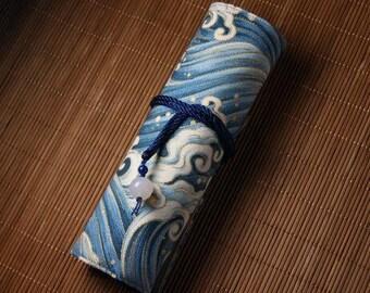 Hand-made Cotton Pen Pouch-Ocean