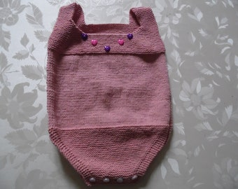 Romper or Bodysuit pink with fine cotton size 6 months