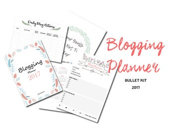 Blog Planner PDF, Blogging Plans, Blogging, Blog Printable, Blog organized, Blog Journal PDF, Blog Agenda, Blog Printable,