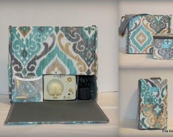 XS Ella style Breast Pump Bag in Fresca Mist print