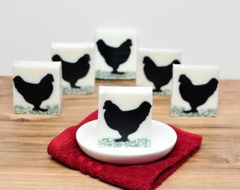 Chicken Decor- Chicken Lover Gift- Farmhouse Decor Chicken Soap Country Decor- Chicken Decor-  Farm Decor- Farm Animal Decor- Country Decor