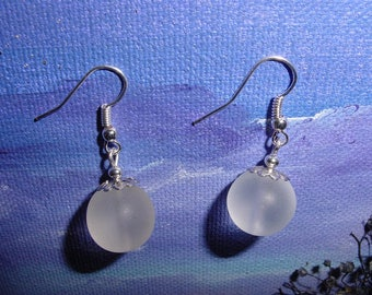 Opaque white Pearl Earrings