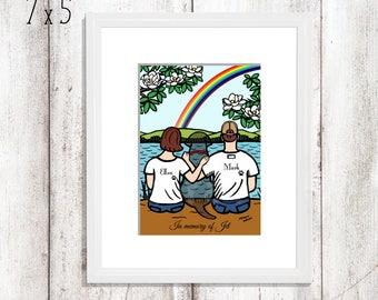 Rainbow Bridge Lab Ornament Loss of Labrador Custom Gift