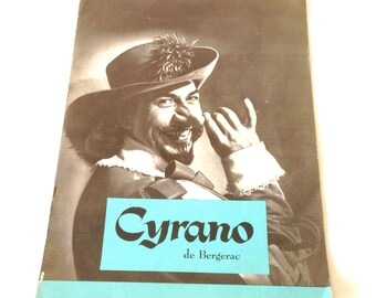 Rare Theater Program - Jose Ferrer In Cyrano De Bergerac Co-Starring Mala Powers