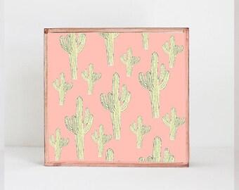 cacti print southwestern nursery art , cactus nursery art nursery prints, cacti nursery decor- kids playroom- southwest- redtilestudio
