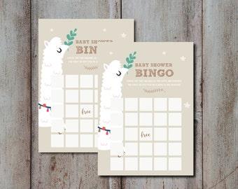 Baby Shower bingo game, Oh Baby Invite , Llama Baby Shower bingo game, Boy Baby Shower, Girl Baby Shower INSTANT DOWNLOAD DIY