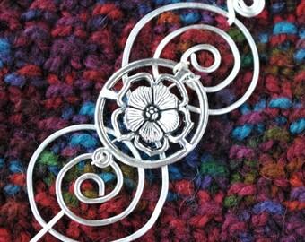 English Rose Shawl Pin