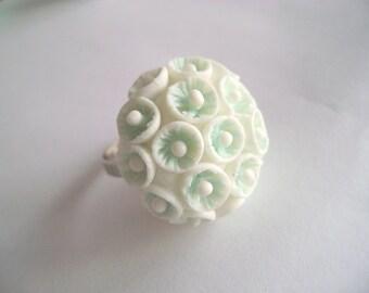 Handmade Adjustable Clay Ring. Ready to ship