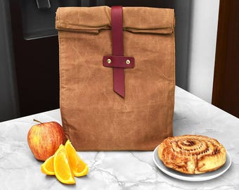 Waxed Canvas Lunch Bag- Insulated Construction