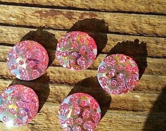 12mm Light Pink Geometric Resin Cabochon
