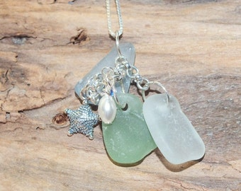 Sea Glass Necklace, Sea Glass Gift, Beach Jewelry, Lake Erie Beach Glass, Beach Glass, Sea Glass Gift, Beach Wedding, Birthday For Her