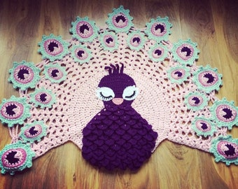 Peacock rug (made to order)