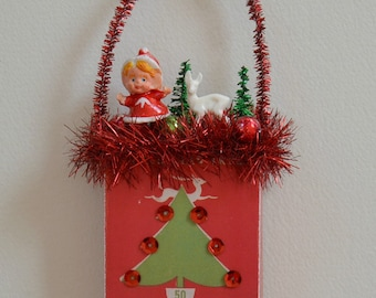 Christmas Ornament Hangers Box  Ornament / Retro Style