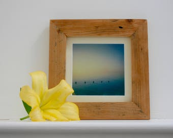 Seascape polaroid print, handmade frame