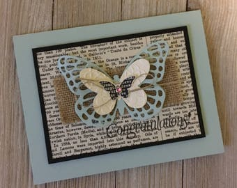Congratulations Cards / With Sympathy Butterfly Cards - Handmade Greeting Cards - Stampin Up Greeting Cards - Personalized Greeting Cards