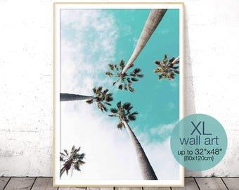 Palm Tree Print, Tropical Decor Wall Art, Palm Print, California Print, Large Wall Art, Coastal Decor Beach, Tropical Print, Palm Tree Decor