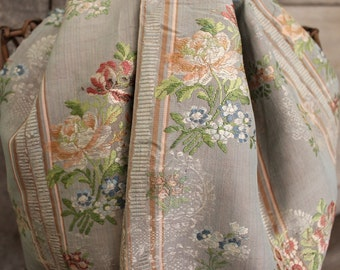 Exquisite panel of antique French floral silk 18th century