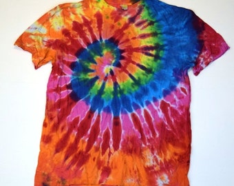 Brighter Days Spiral Tie Dye T-Shirt  (ONNO 70/30 Organic Bamboo/Cotton Size L) (One of a Kind)